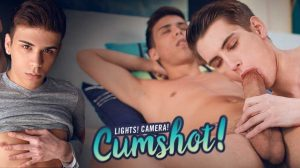 Lights! Camera! Cumshot! - Landon Vega & Trevor Harris
