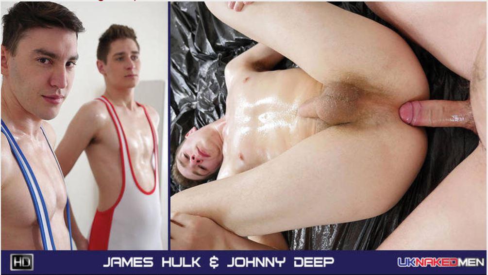 UK Naked Men - James Hulk and Johnny Deep