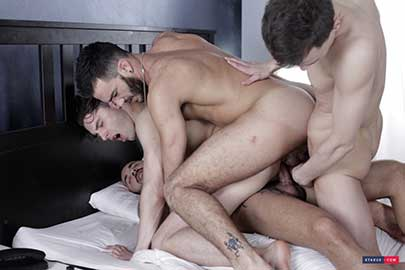 Is it any real surprise that a gay triple penetration fuck with Johny Cruz is going to be one seriously hot scene and popular with the fans?