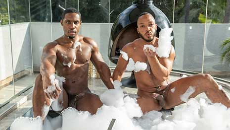 DeAngelo Jackson with another muscle stud, but ends up being the bottom bitch! I like to go somewhere warm when winter arrives. I hate cold weather.
