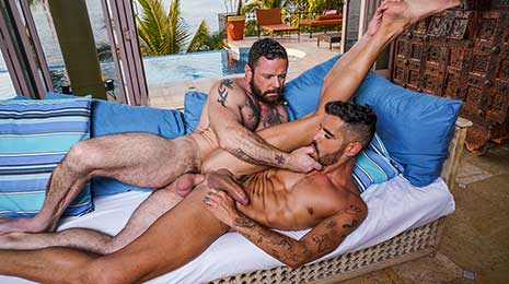 Valentin Amour has quickly developed a reputation among the Lucas Men as a bottom slut with a voracious need for cock. He doesn't just want to get fucked, but he wants to be owned by his tops.